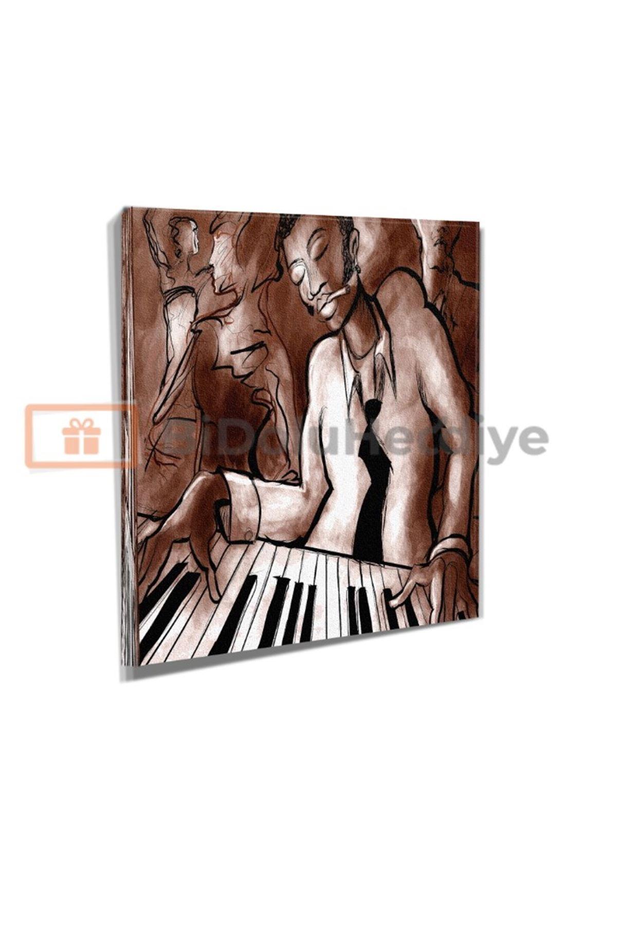 Piyano Çalan Adam Kanvas Tablo