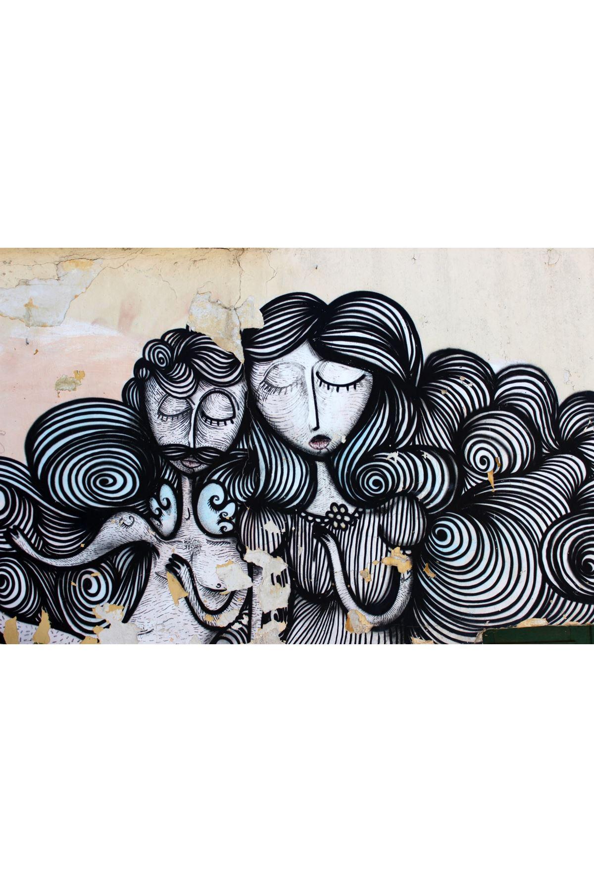 Soyut Graffiti Kanvas Tablo
