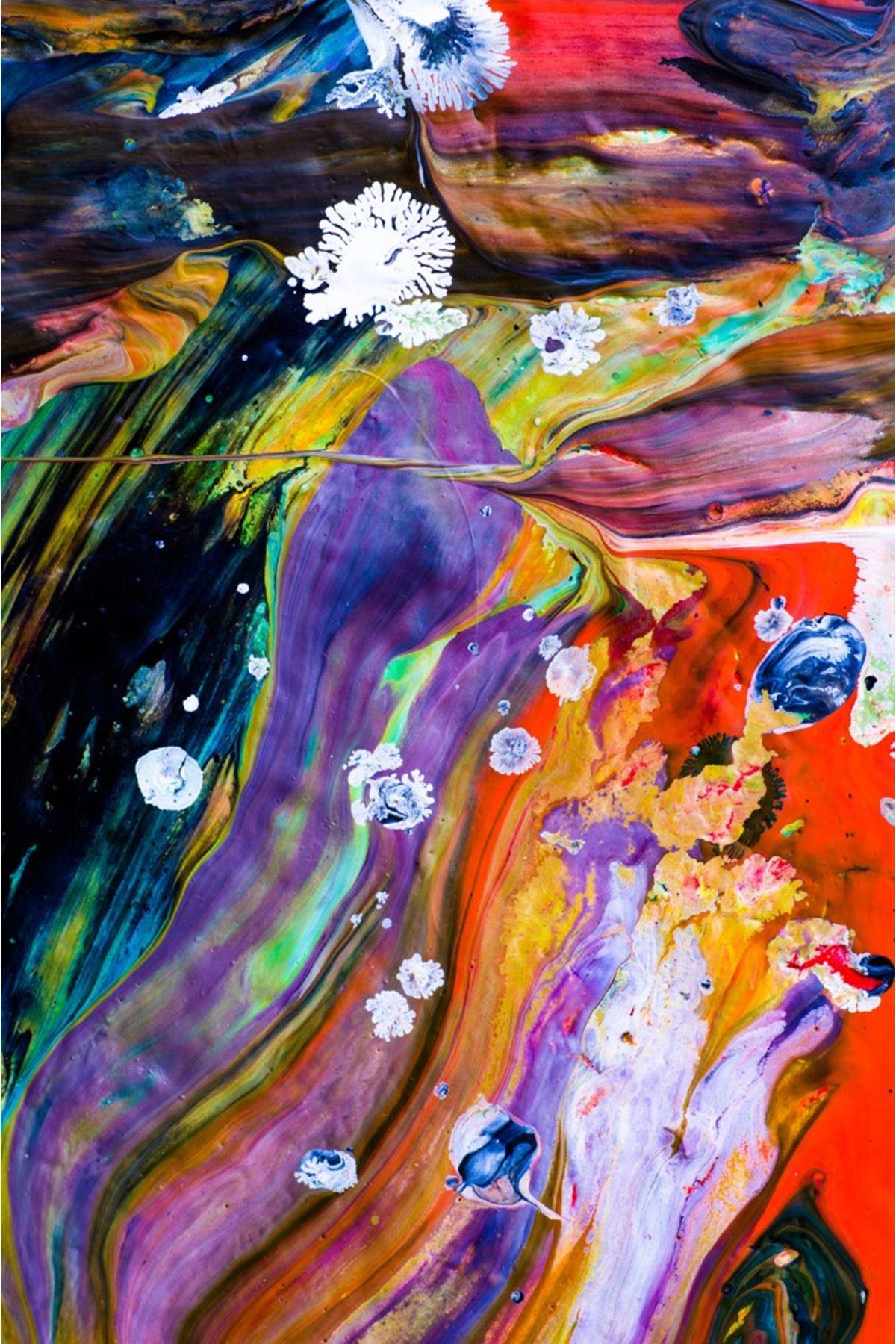 Yağlı Boya Görünümlü Soyut Kanvas Tablo