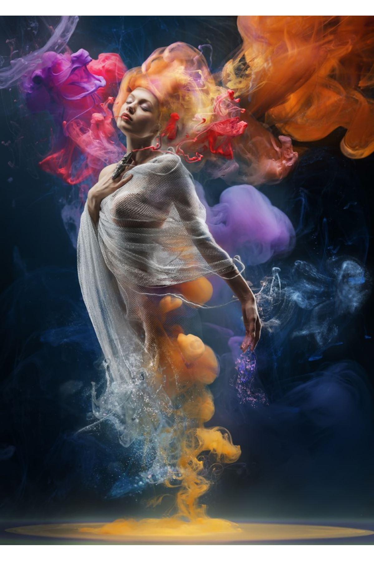 Dansçı Kız Kanvas Tablo
