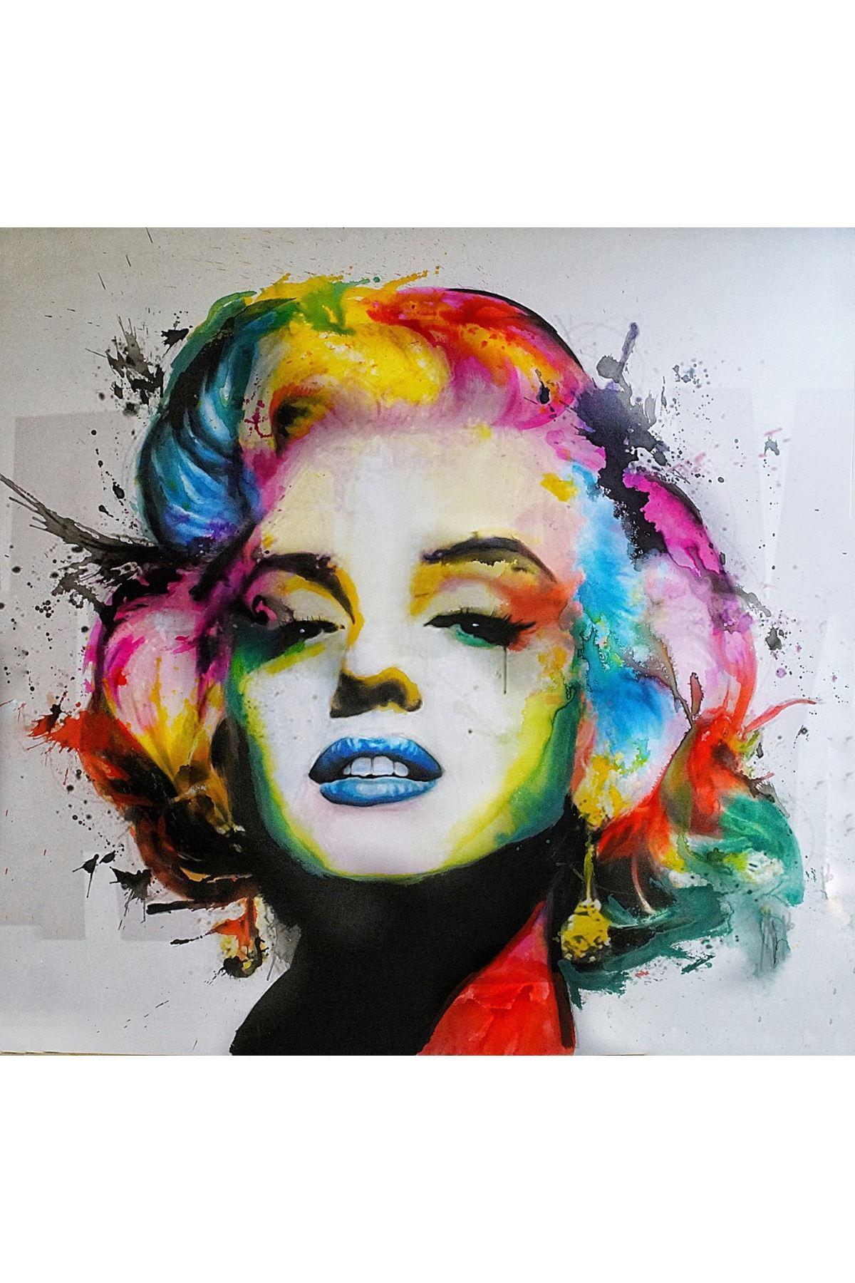 Sulu Boya Görünümlü Marilyn Monroe Kanvas Tablo