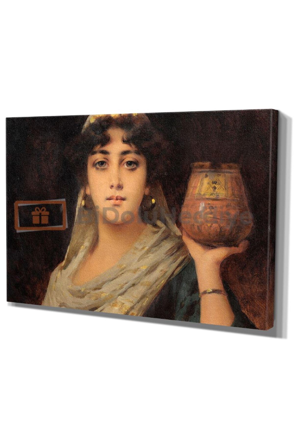 """Oriental Beauty"" Nathaniel Sichel ,1900 Dijital Baskı Kanvas Tablo"