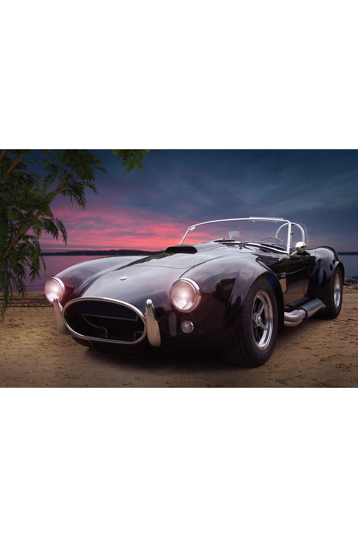 Yüksek Çözünürlüklü Klasik Araba Kanvas Tablo