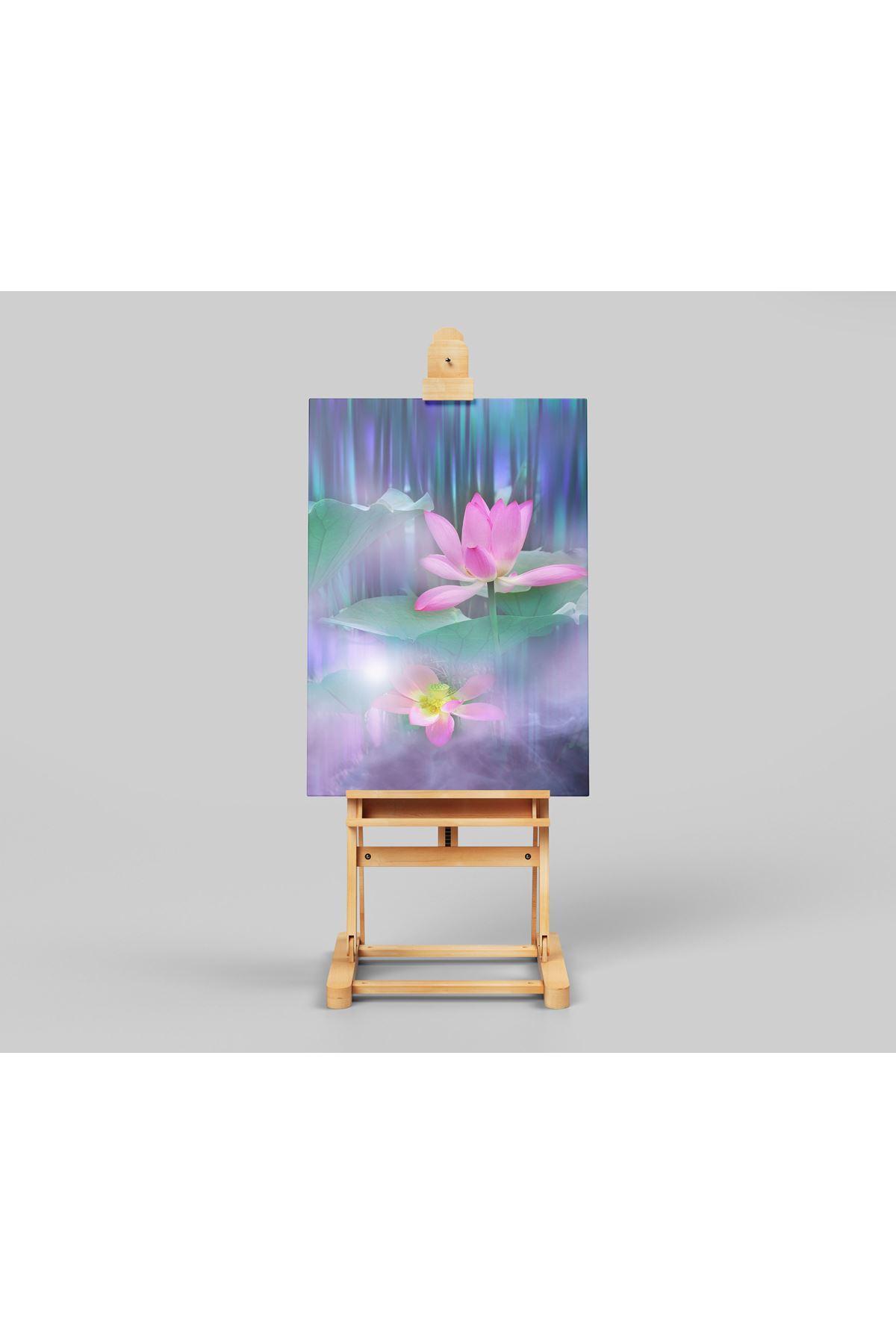 Yüksek Çözünürlüklü Lotus Çiçeği Kanvas Tablo