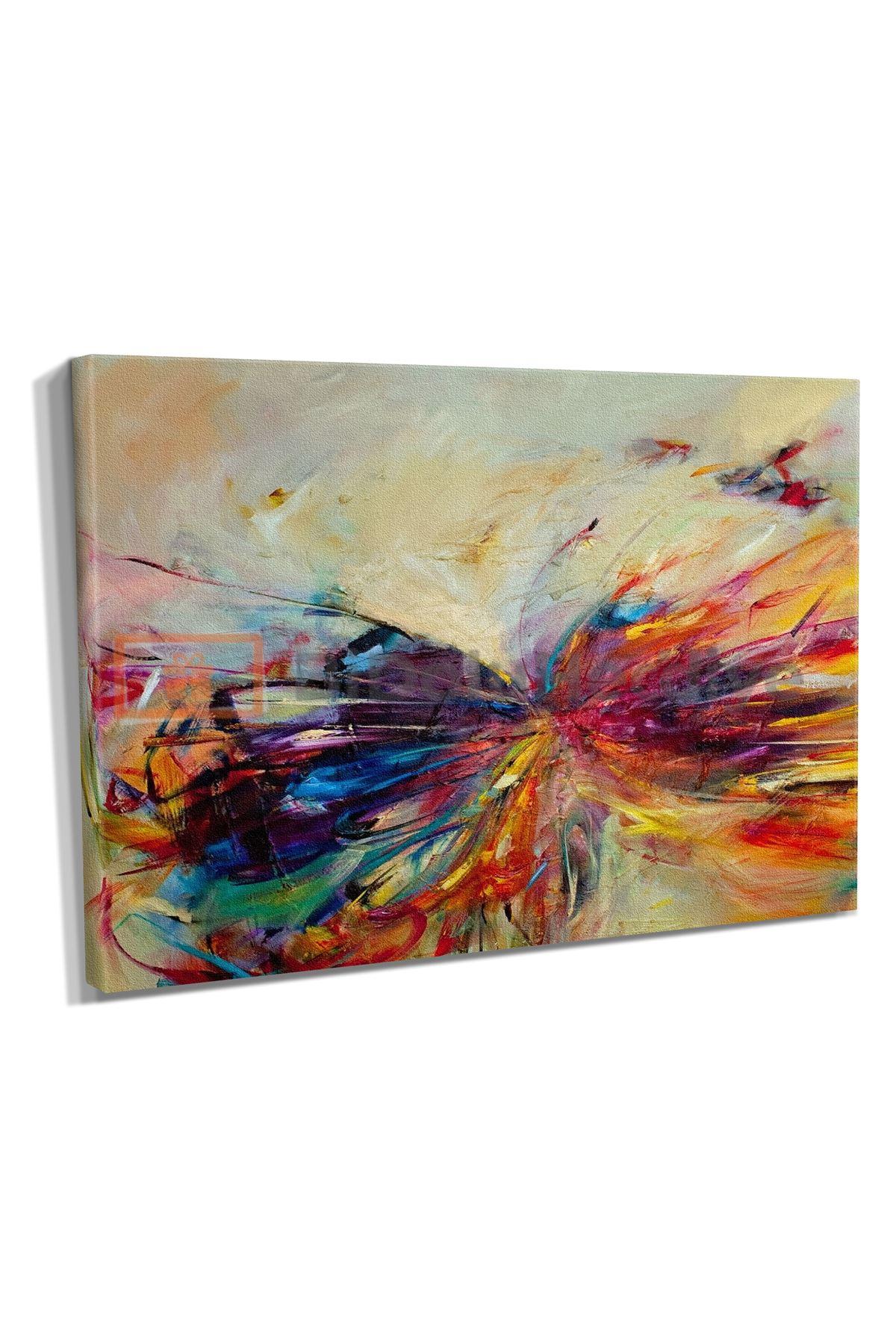 Yağlı Boya Görünümlü Soyut Kelebek Kanvas Tablo (Wassily Kandinsky)
