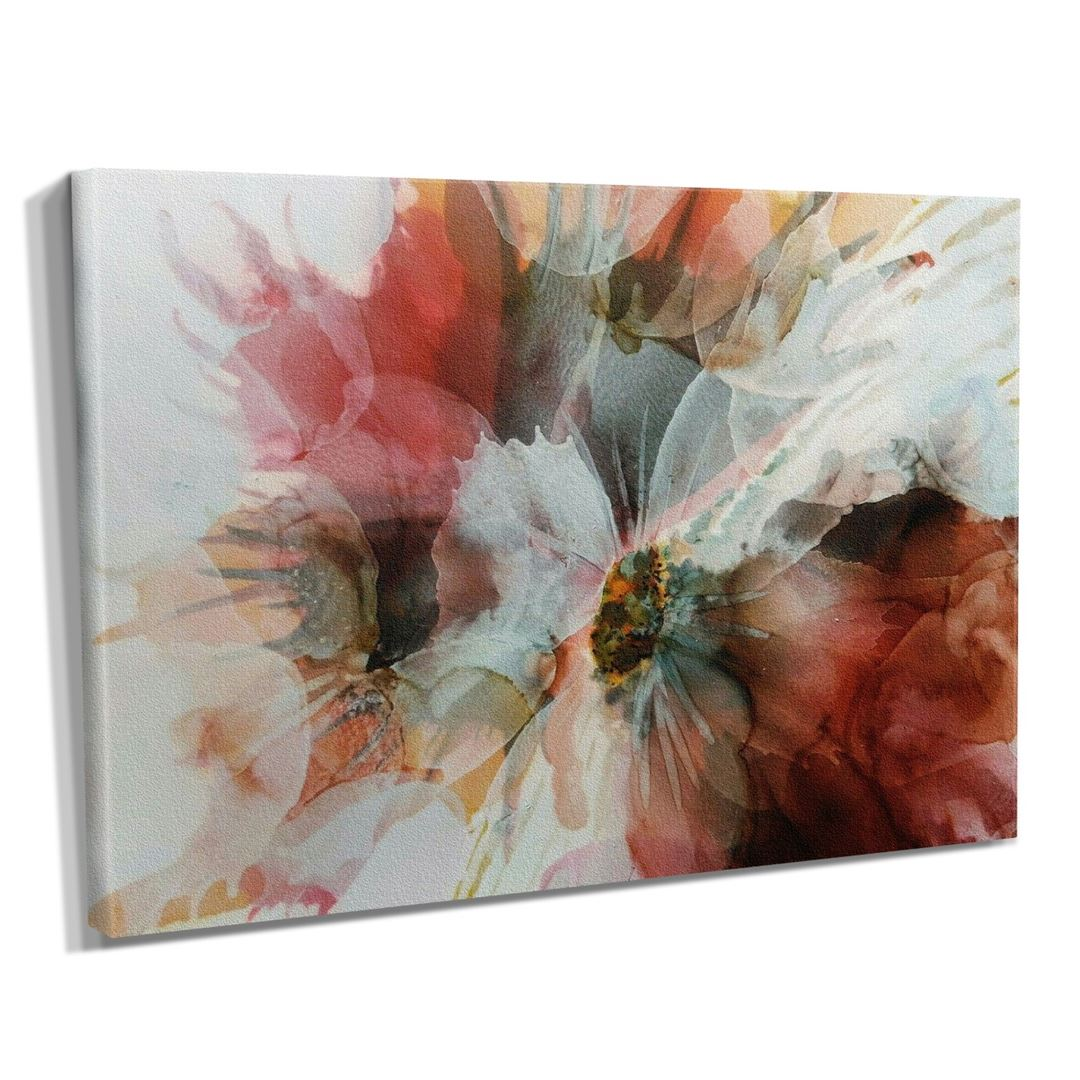 Natural Abstract Flower's Kanvas Tablo