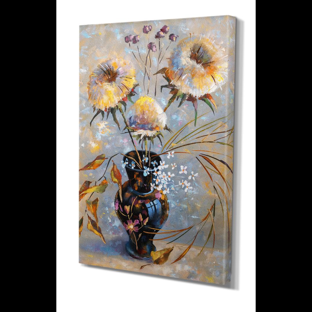 Natural Abstract Flower Kanvas Tablo