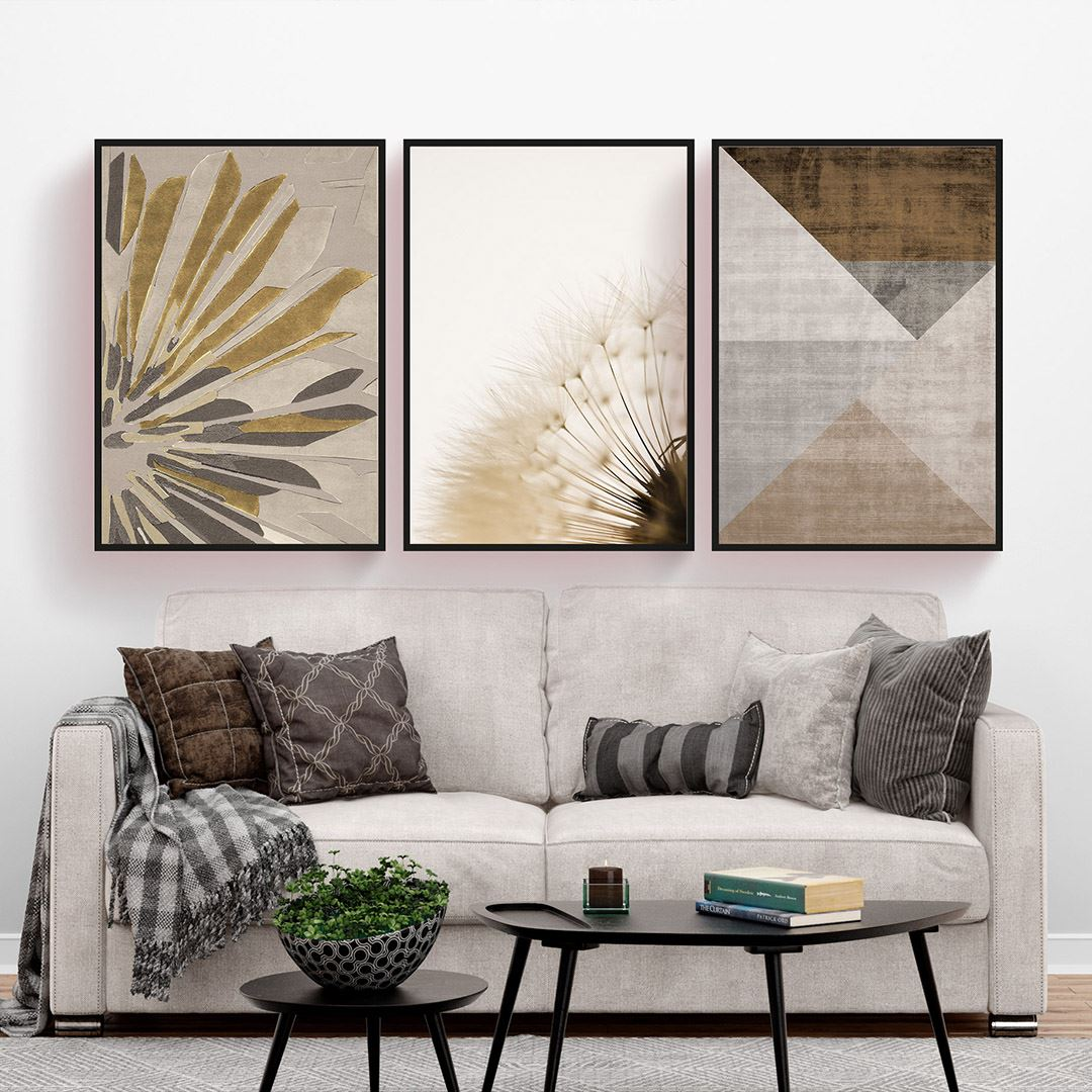 Modern Elegant 3 Parça Set Kanvas Tablo
