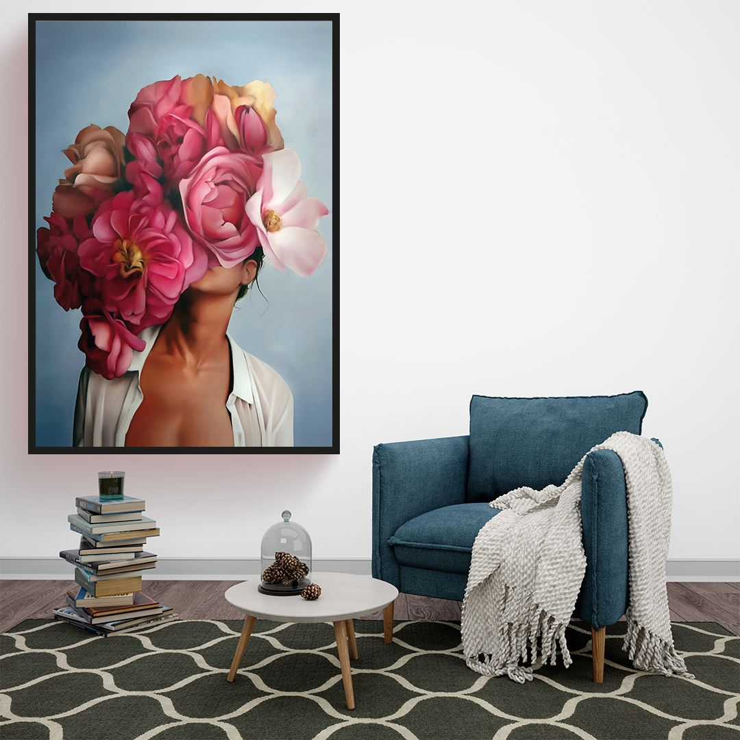 Flower Women Kanvas Tablo