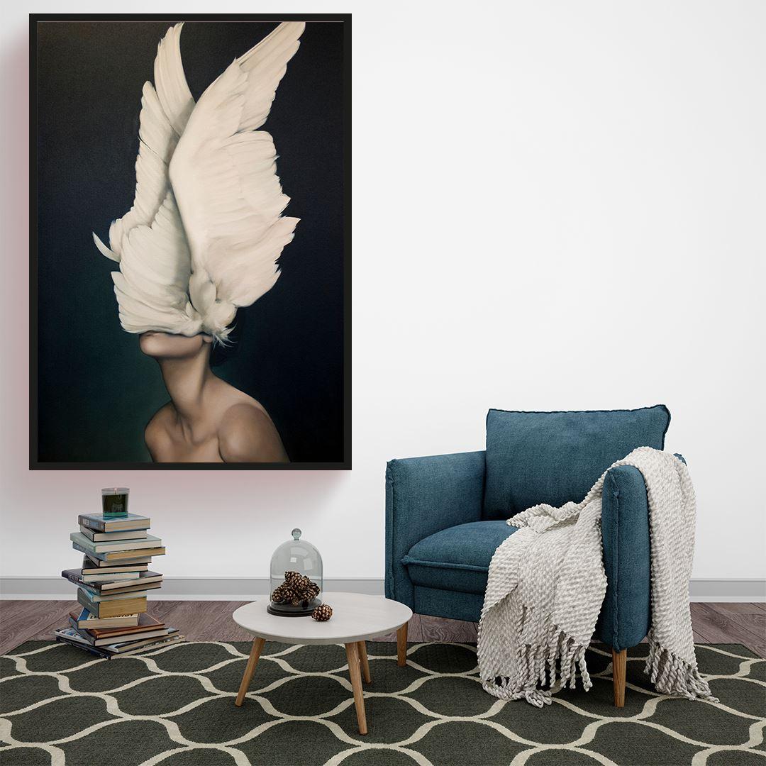 Feather Women Kanvas Tablo