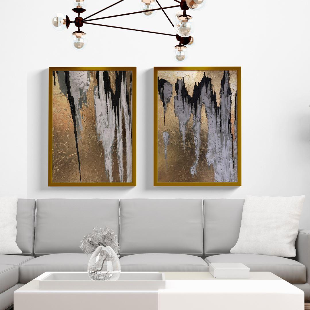 Luxury Gold Decor Canvas Set