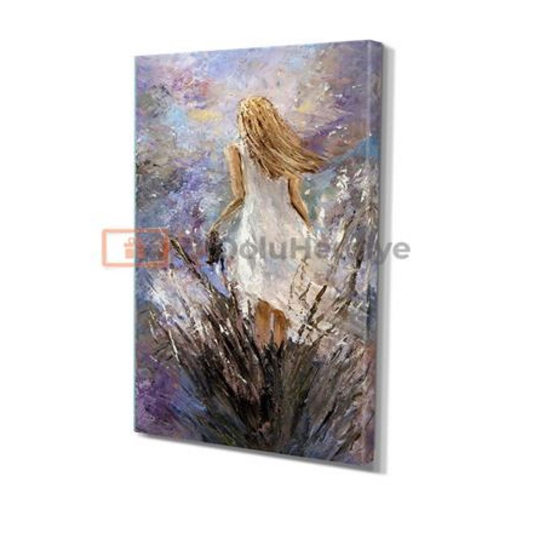 Abstract Woman Portrait Canvas