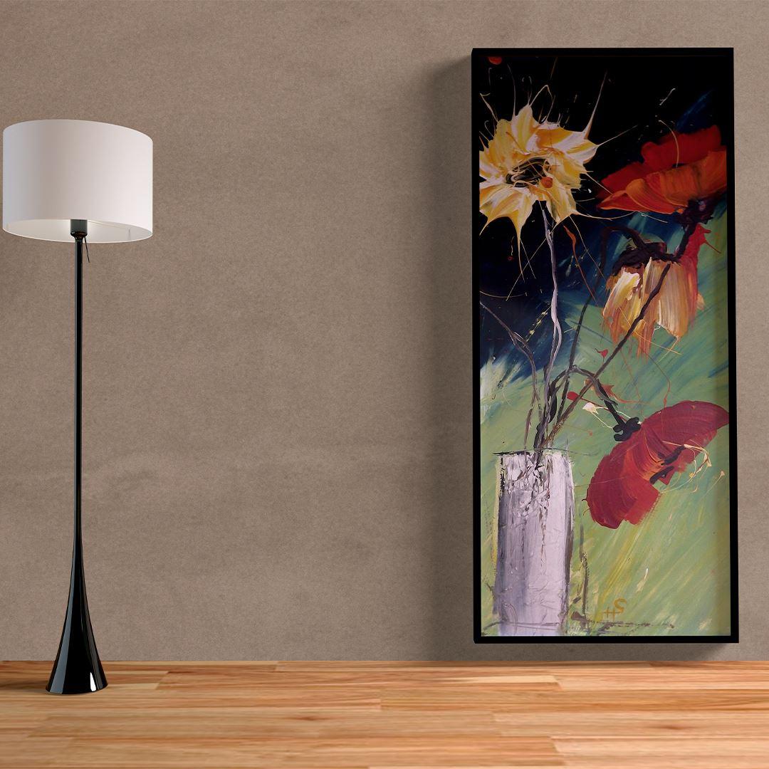 Abstract Natural Floral Kanvas Tablo