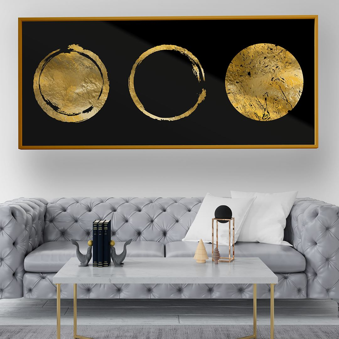 Gold Moon Kanvas Tablo