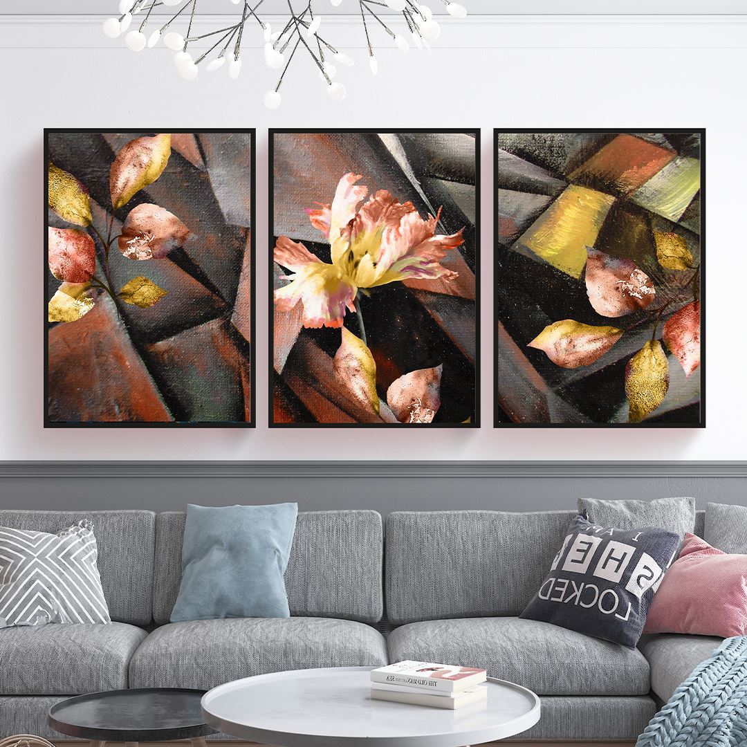 Modern Floral Set Kanvas Tablo