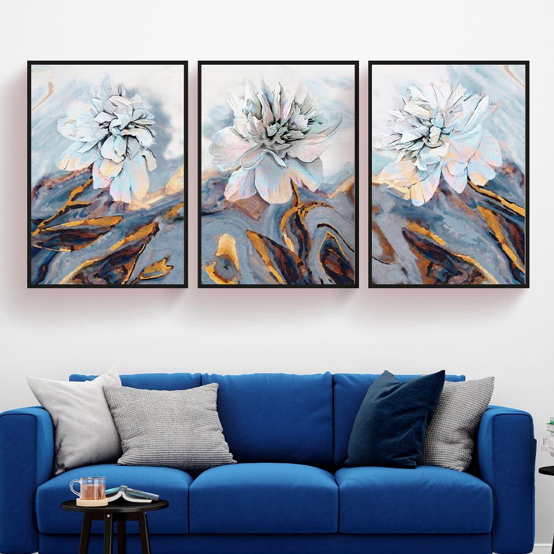 Soft Floral Set Kanvas Tablo