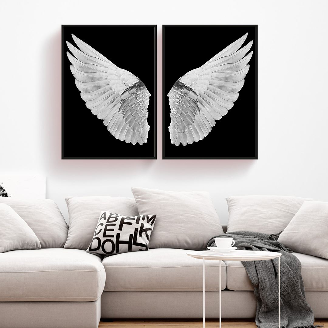 White Angel Canvas Set