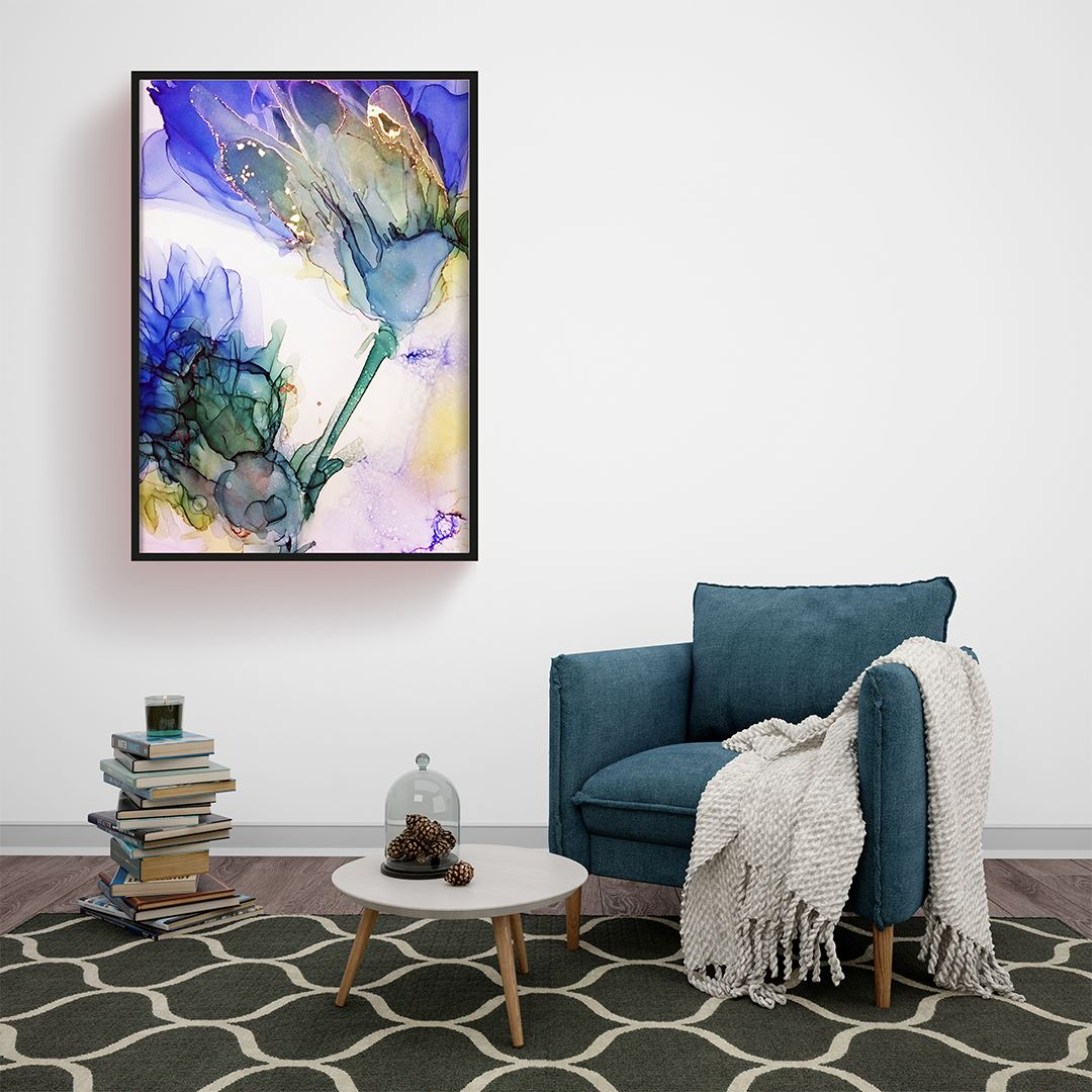 Alcohol Abstract Flowers Canvas