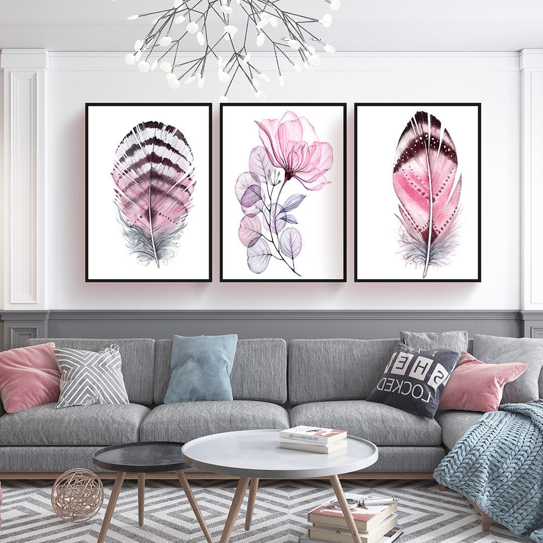 Pink Sipring Canvas Set