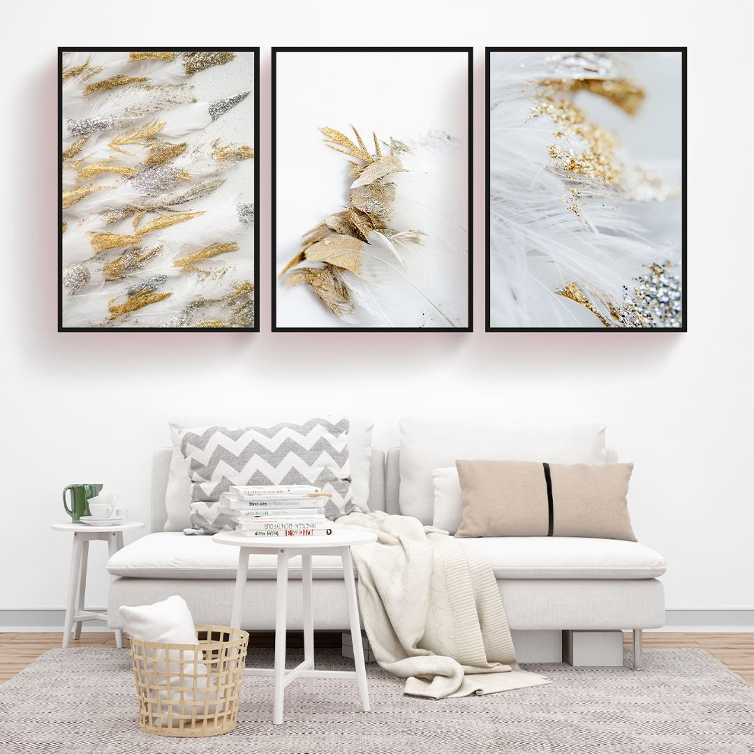 Gold and Silver Modern Decor Canvas Set
