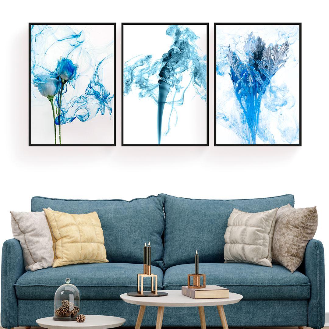 Blue Modern Canvas Set