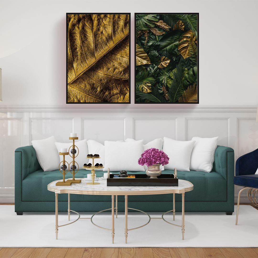Luxury Leaf Canvas Set