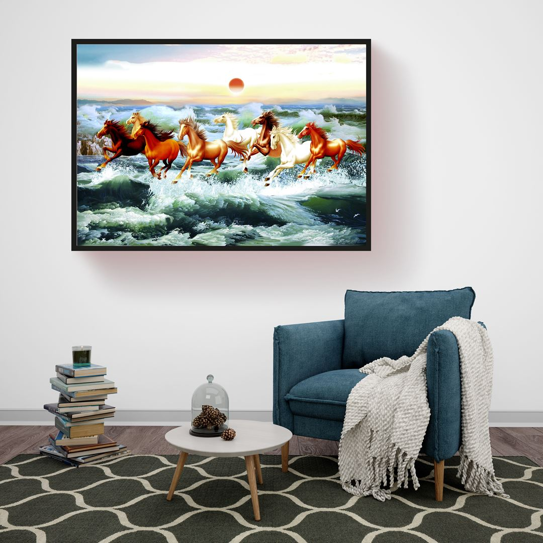 Horses in the Sea Canvas