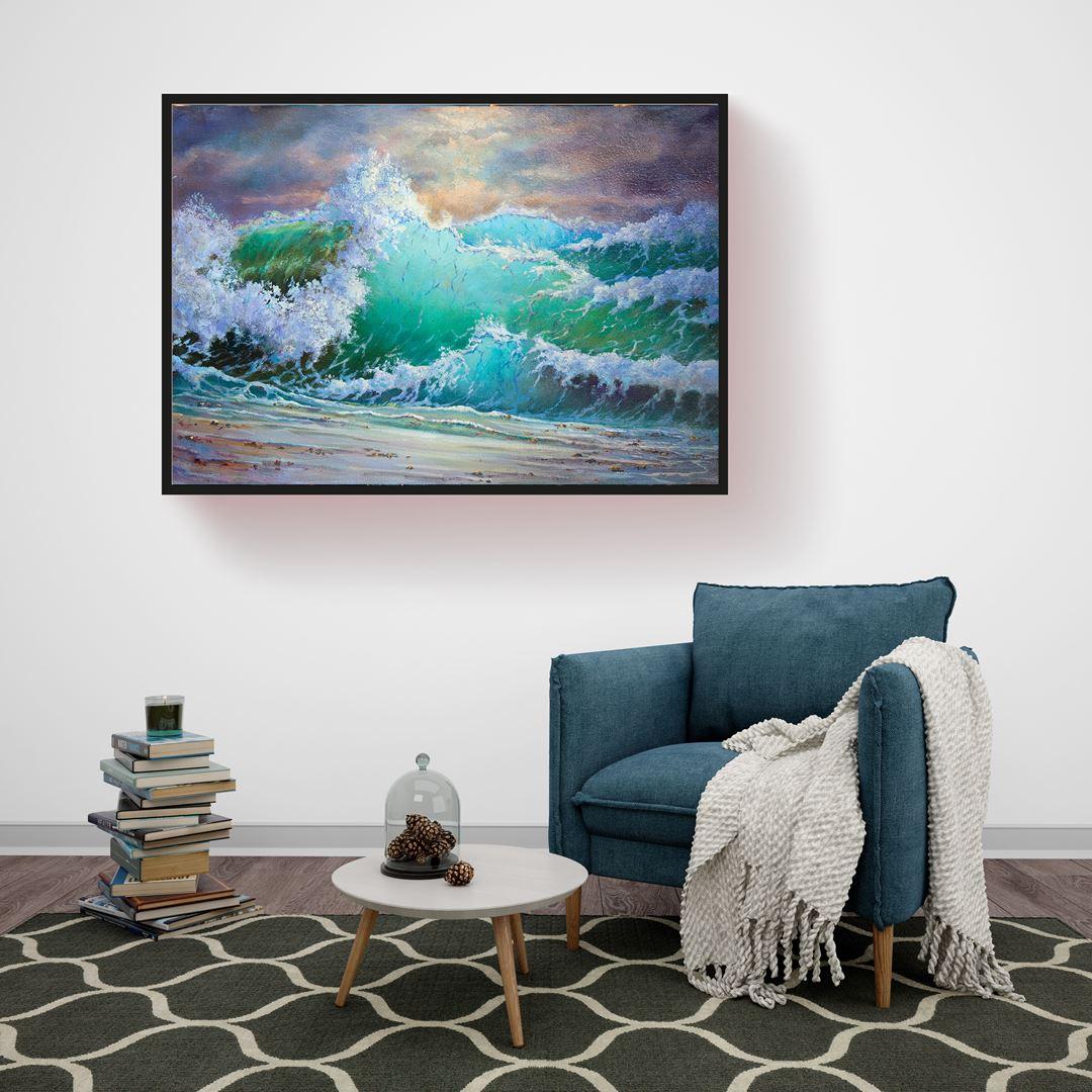 Big Sea Waves Canvas