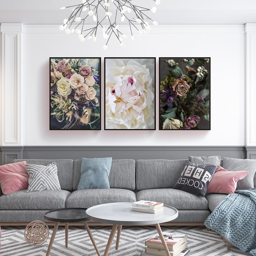 Dry Flowers Canvas Set