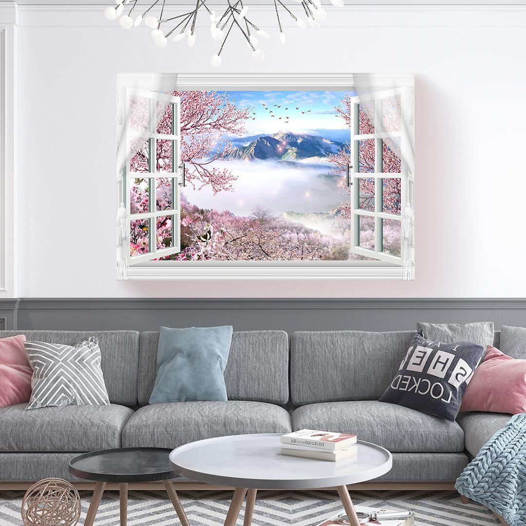 Doğaya Açılan Pencere Kanvas Tablo