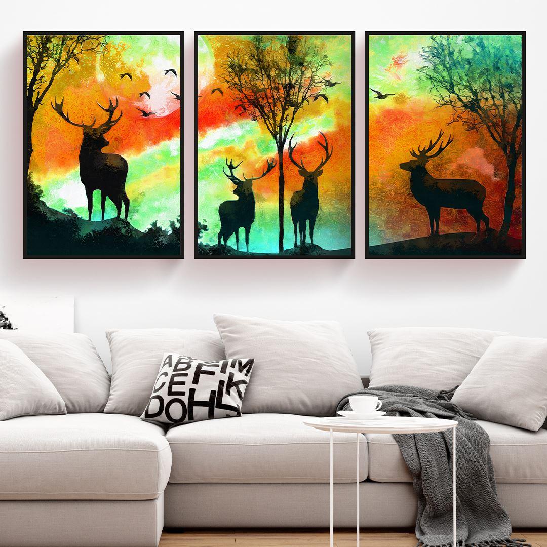 Orman Geceleri Kanvas Set