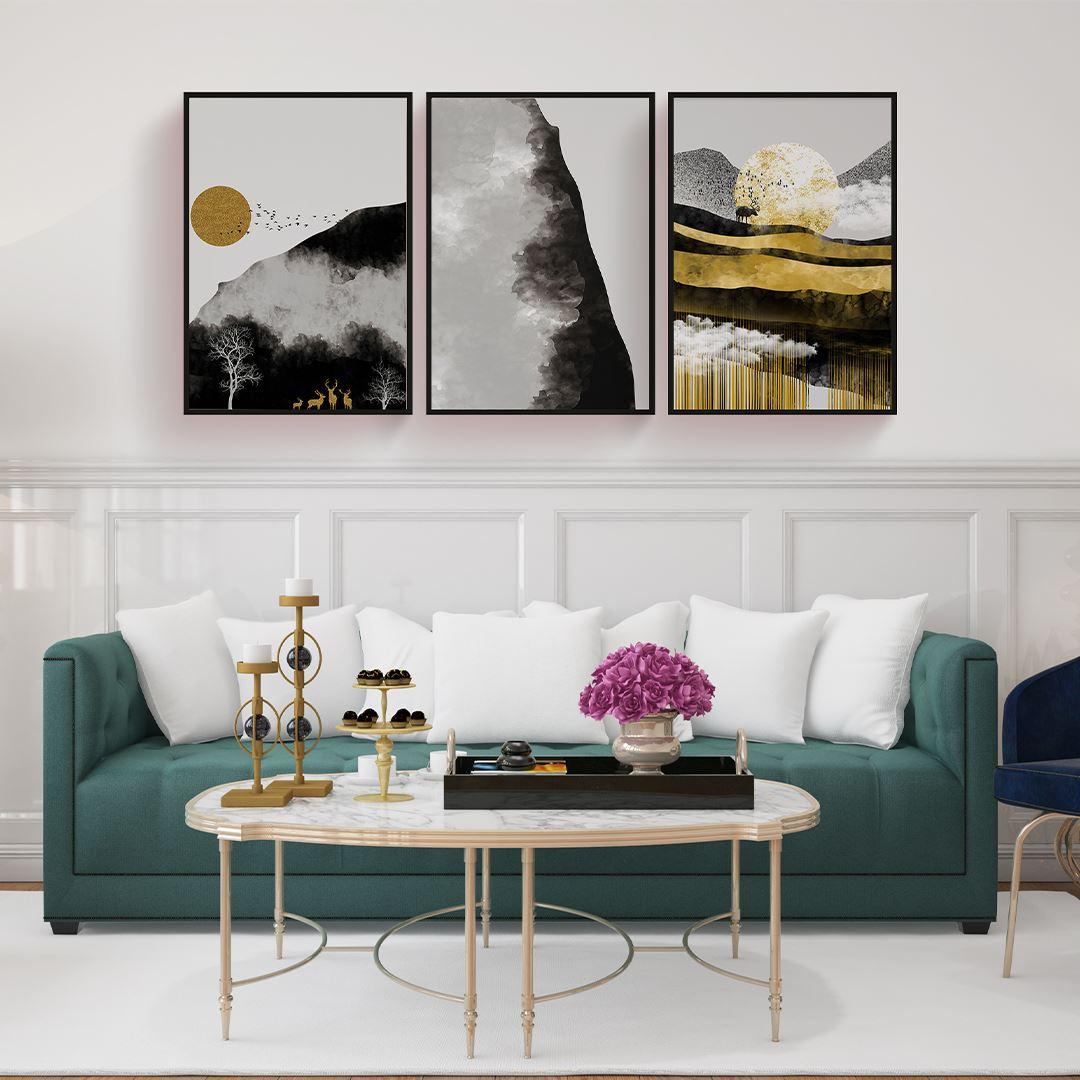 Modern illustration Decor Canvas Set