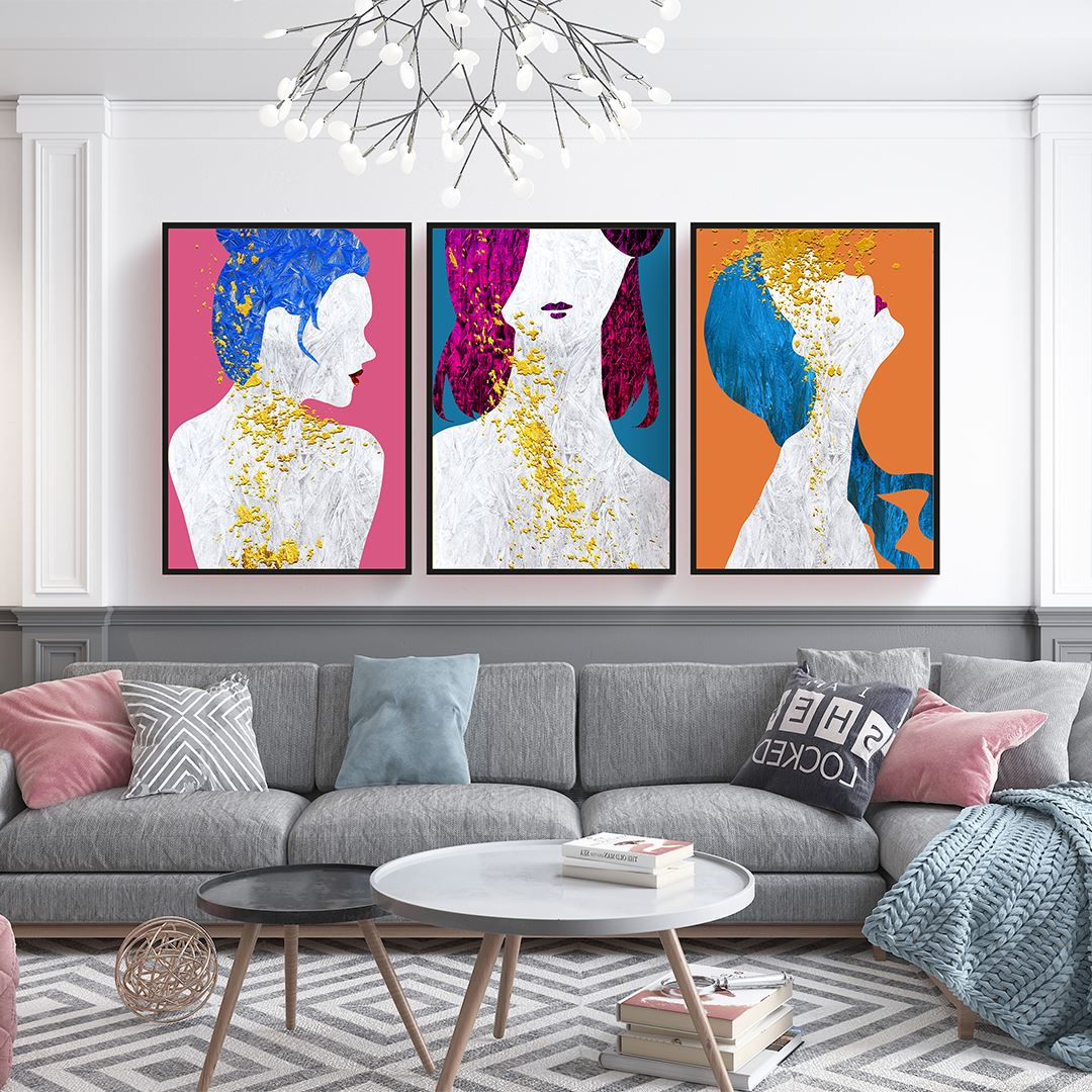 Abstract Woman's Canvas Set