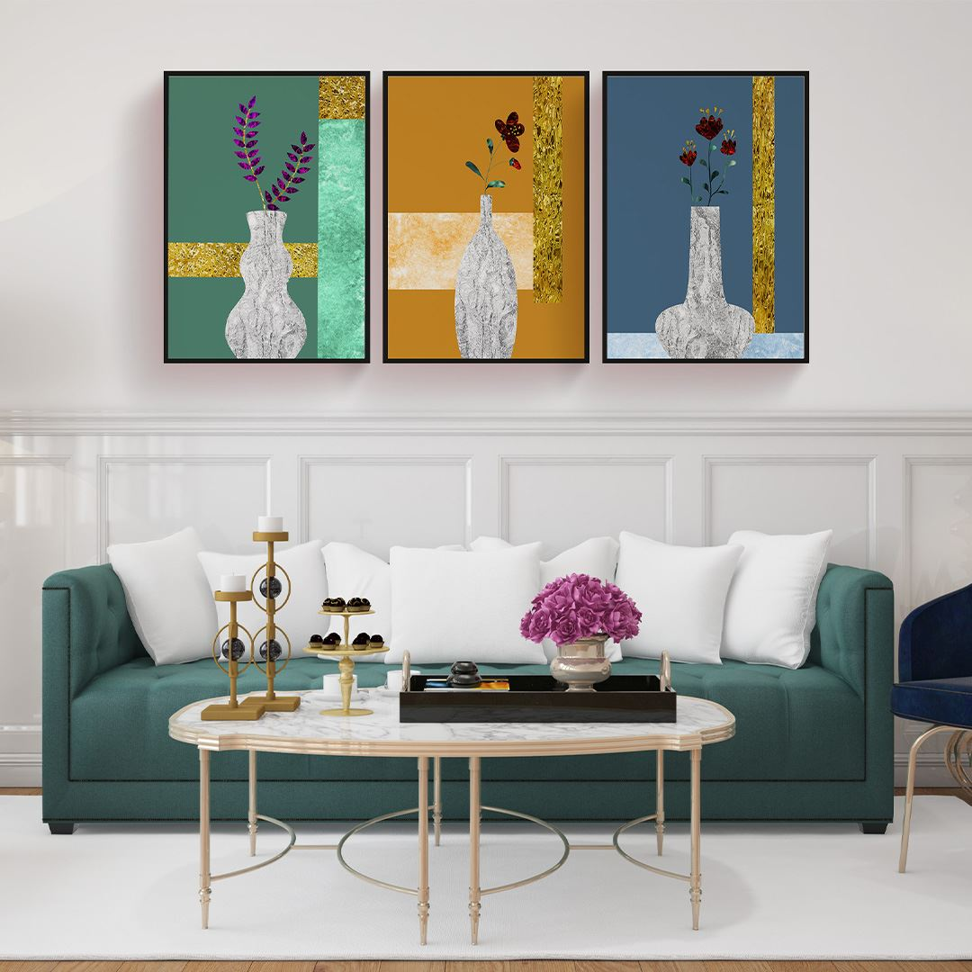 Luxury Flower's Canvas Set