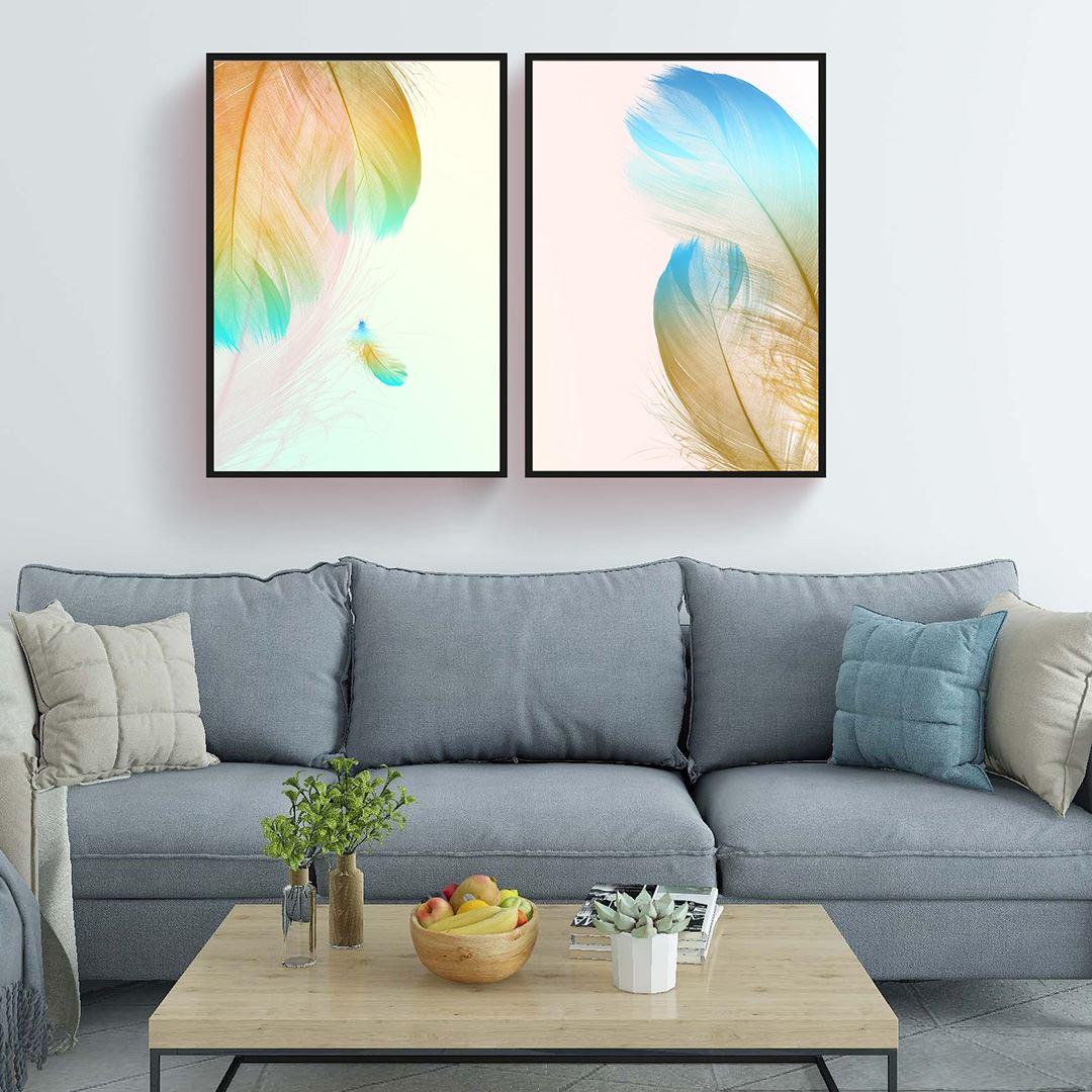 Feather Canvas Set