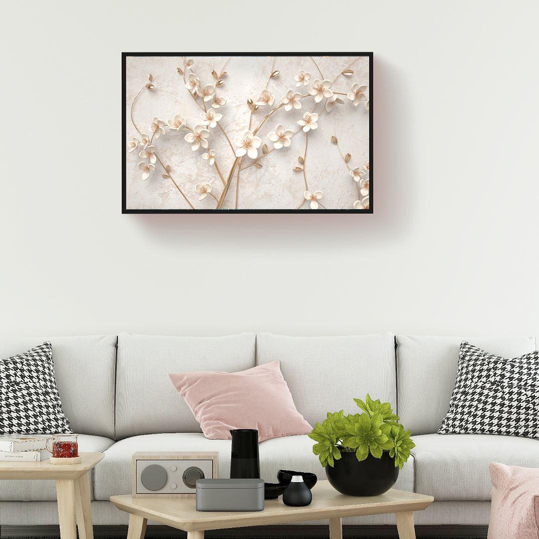 Zarif Modern Çiçek Kanvas Tablo
