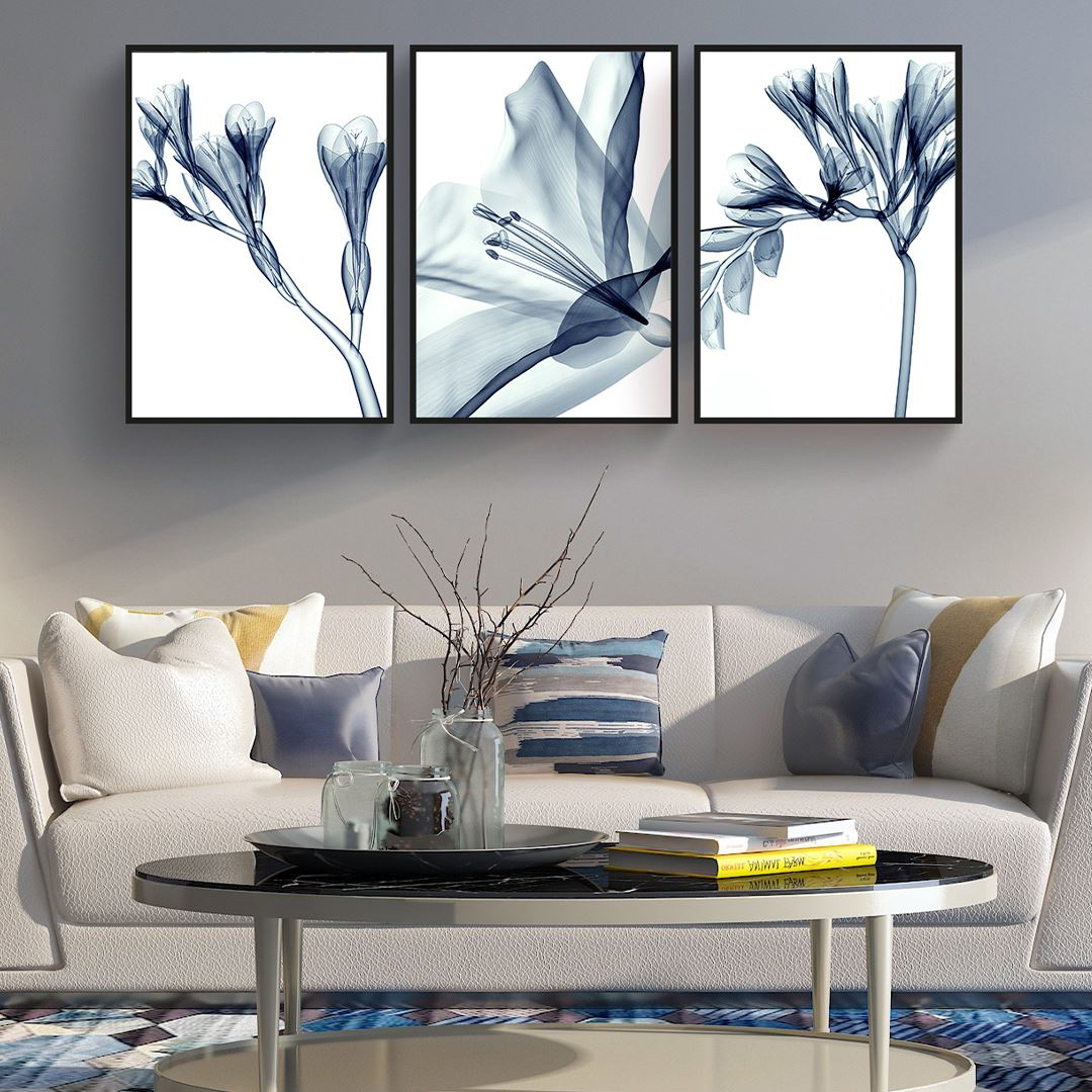 Alcohol Abstract Flowers Canvas Set