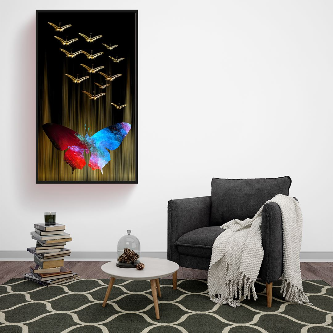 Abstract Butterfly Canvas