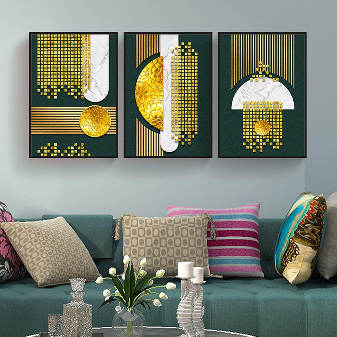 Modern Golden Canvas Set