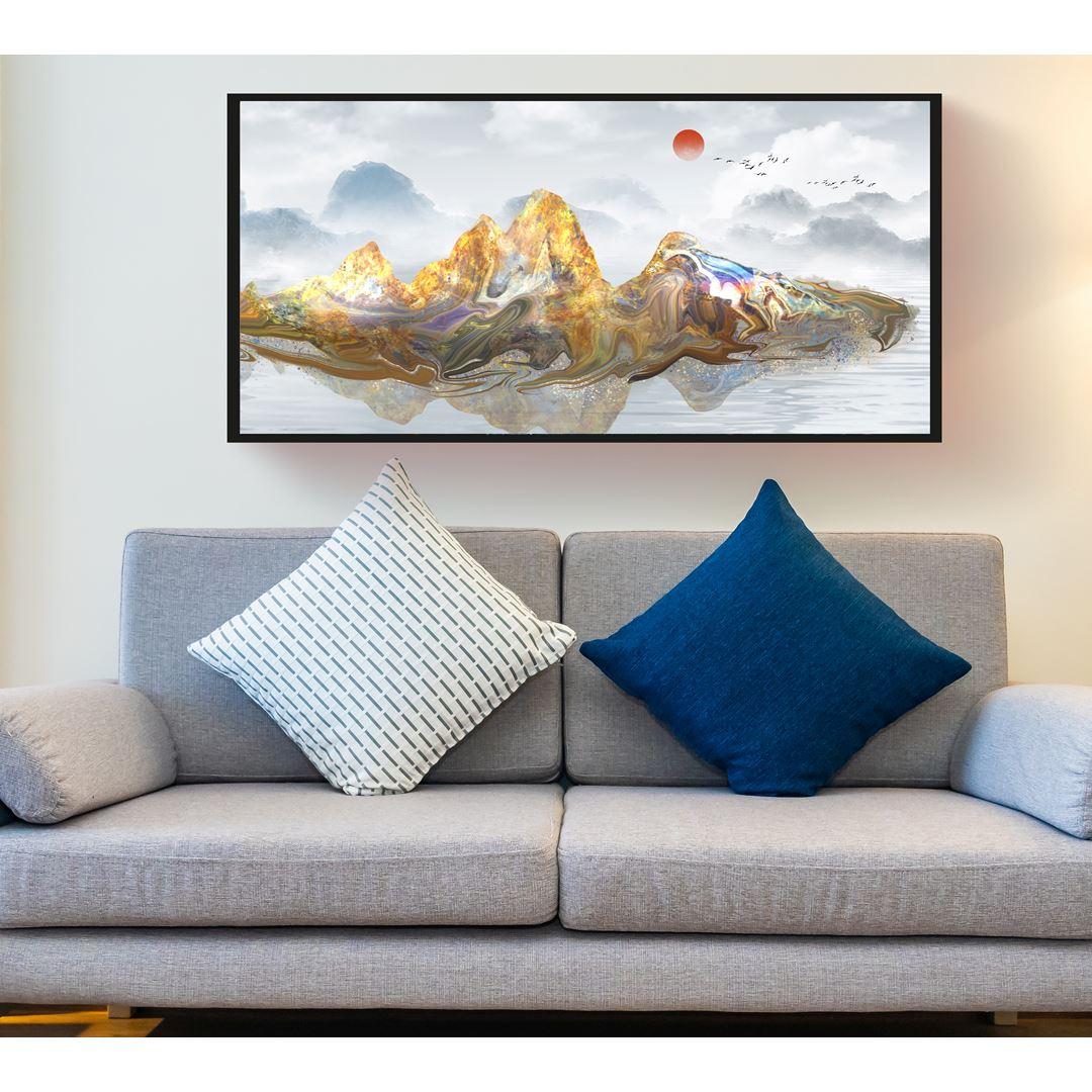 Panaromik Soyut Dağ Canvas