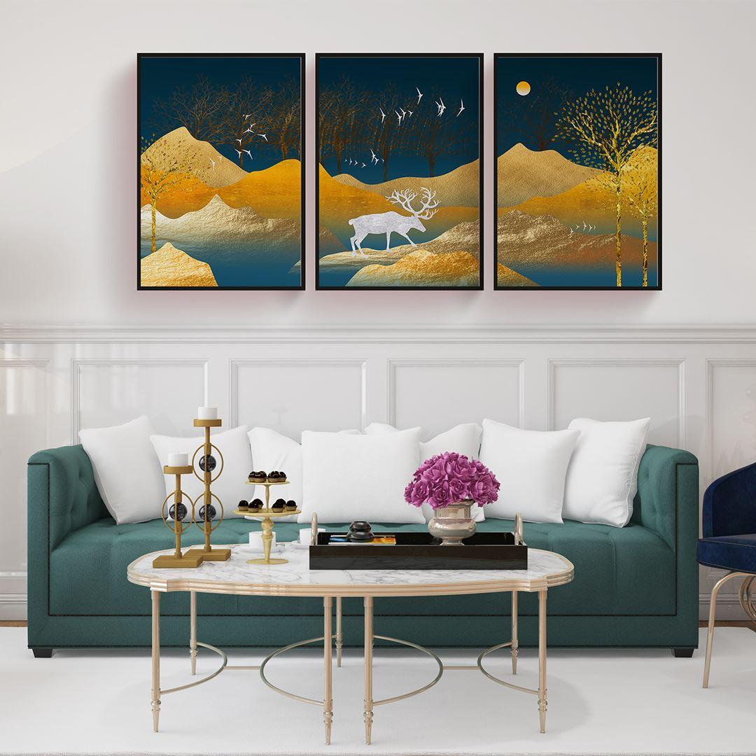 Soyut Manzara Kanvas Set