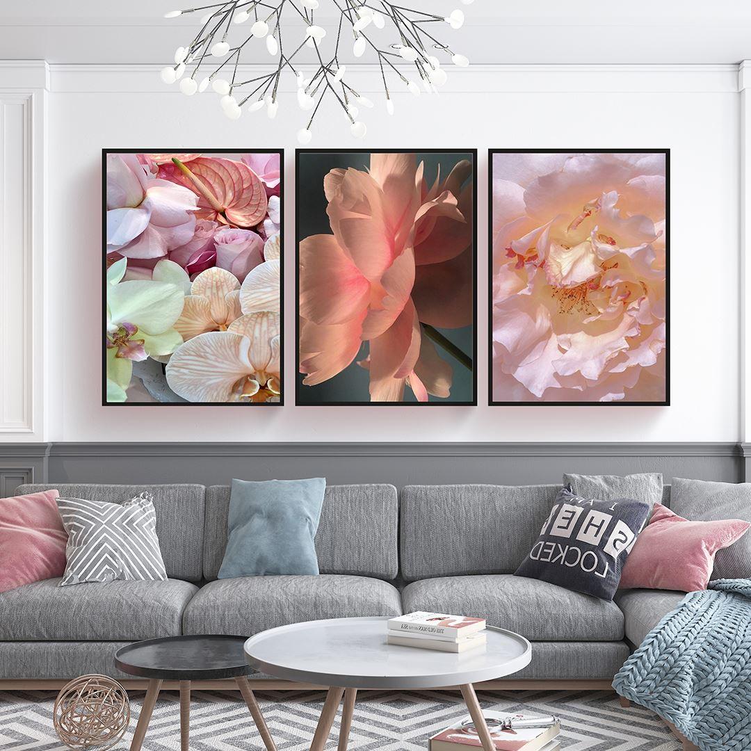 Modern Floral's Canvas Set