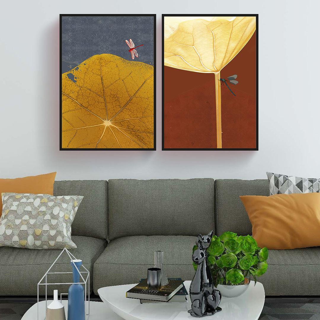 Lotus Yaprakları Kanvas Set