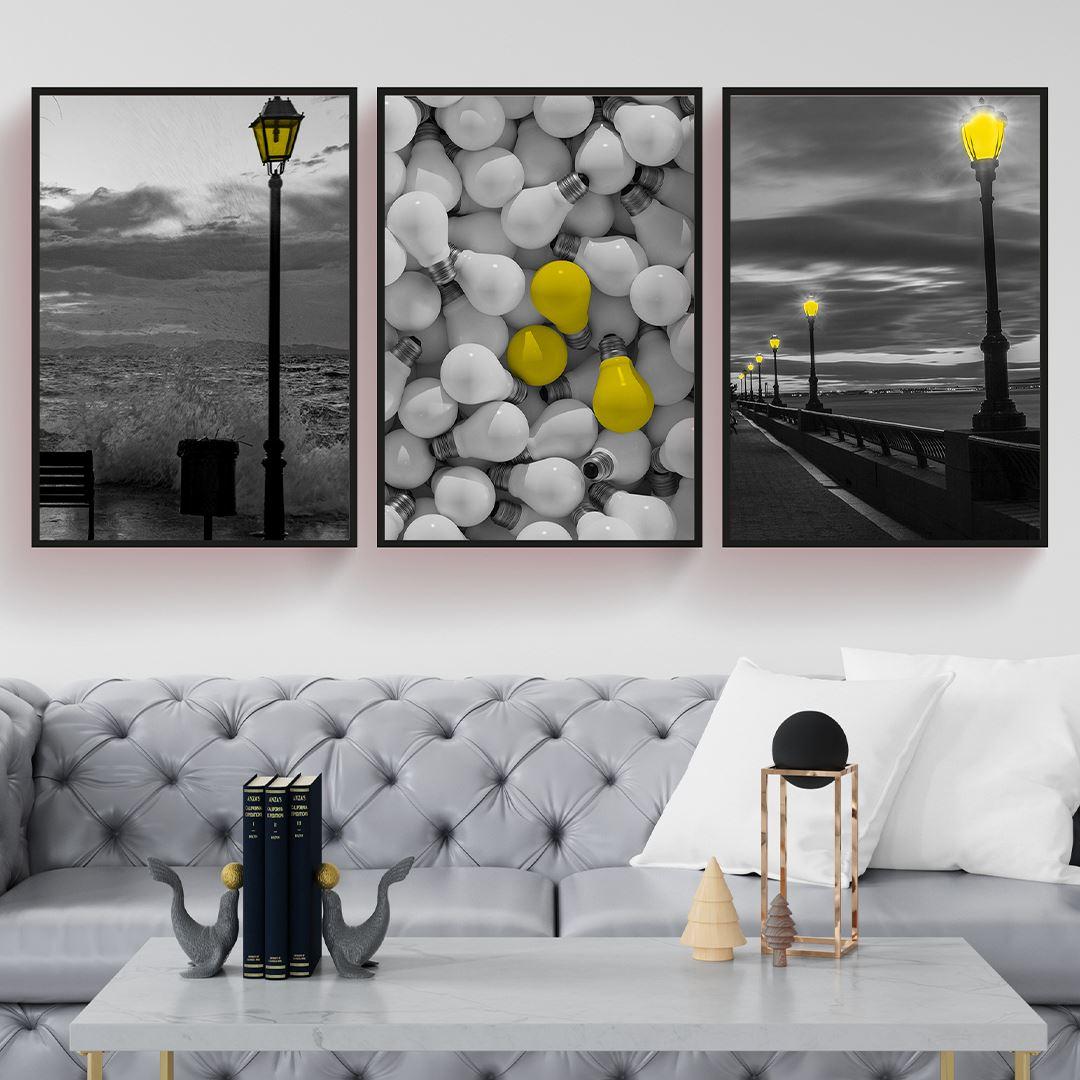 Sokak Lambaları Kanvas Set