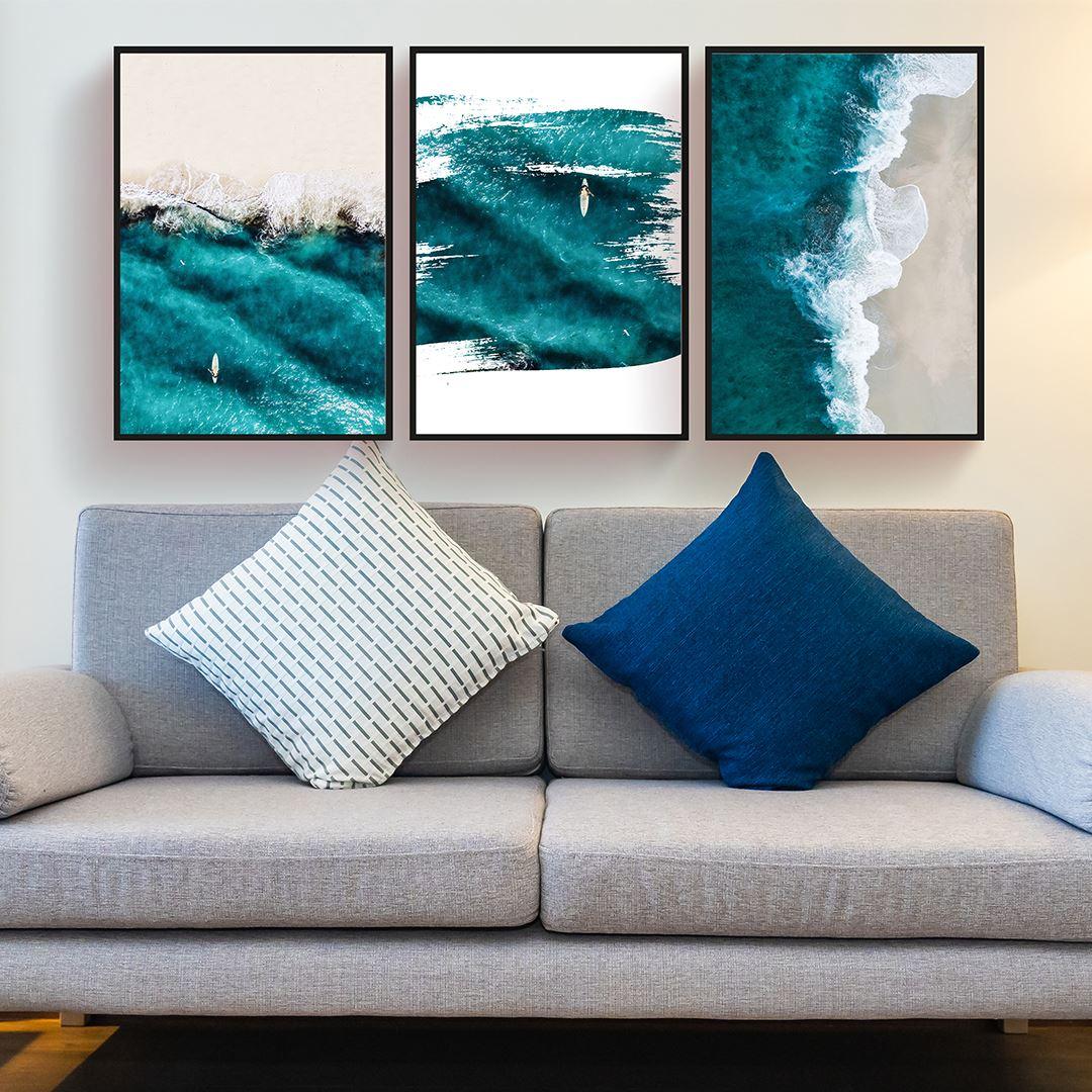 Blue Ocean Canvas Set