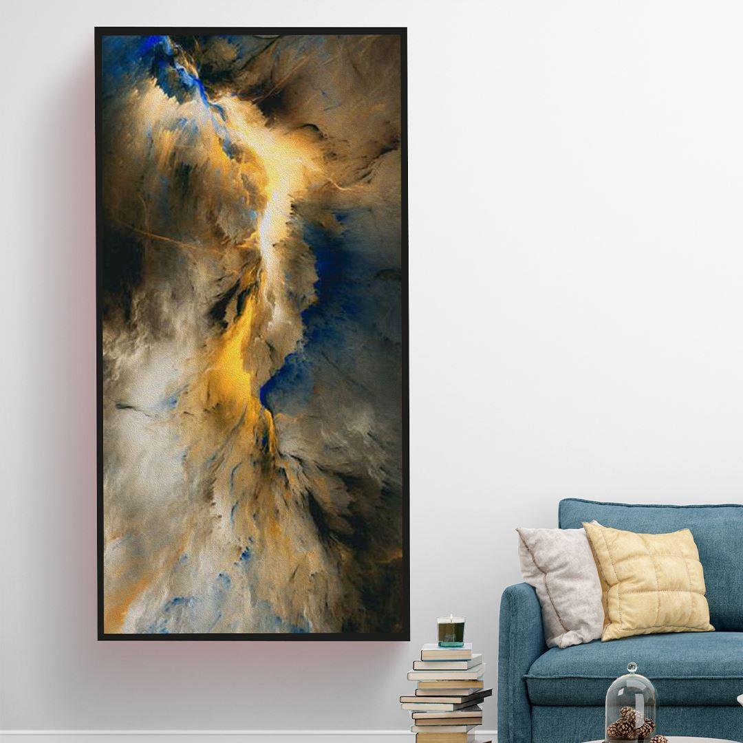 Soyut Bulutlar Kanvas Tablo