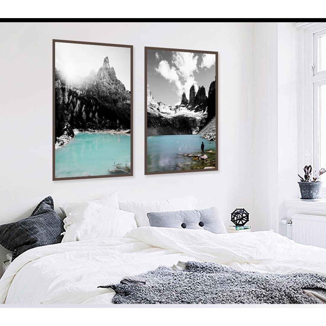 Doğal Kış Manzarası Kanvas Set