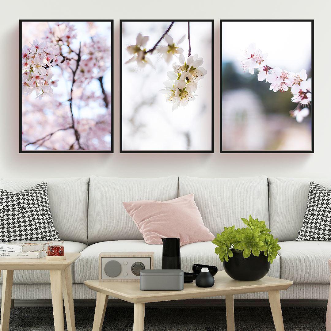 Soft Flower's Canvas Set