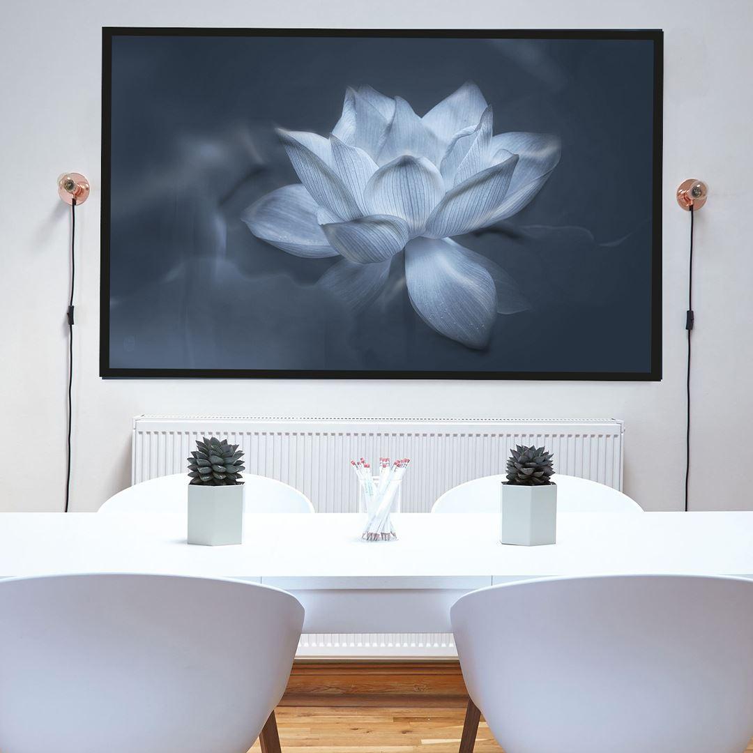 Modern Lotus Çiçeği Kanvas Tablo