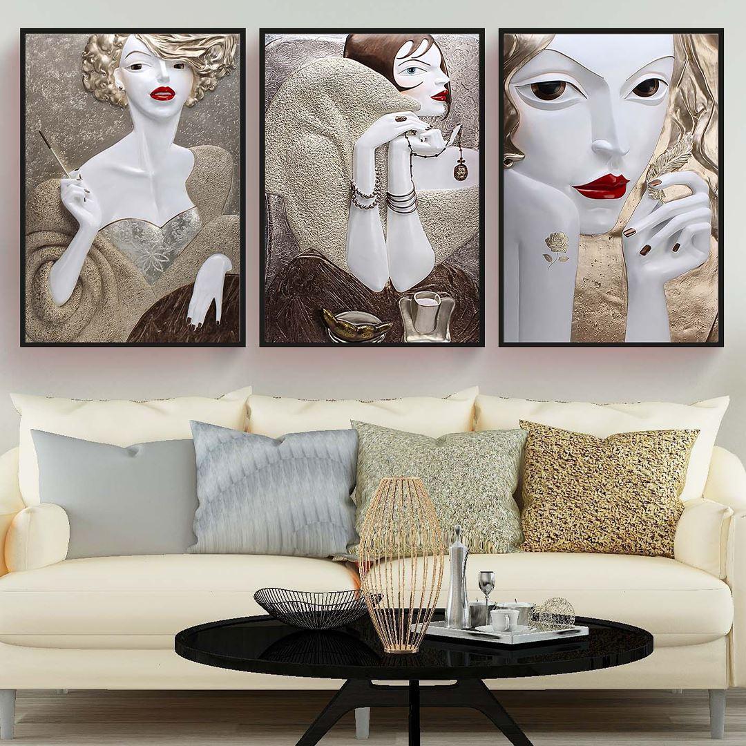 Fantasy Woman Canvas Set